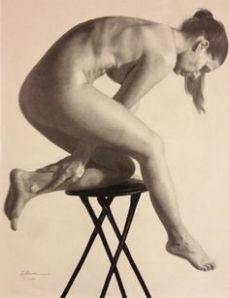 woman kneeling