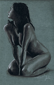 Woman kneeling by Philipe Flohic.
