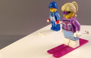 lego ski couple