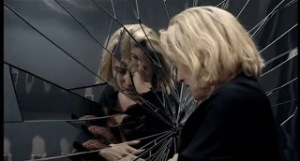 broken mirror woman