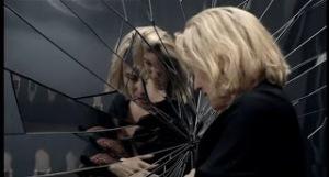 broken mirror woman