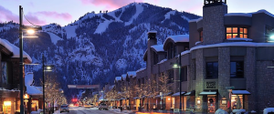The little downtown Sun Valley Idaho