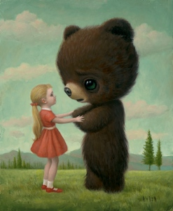 Girl and Bear by Mark Ryden