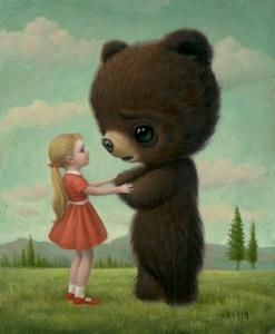 Girl and Bear by Mark Ryden